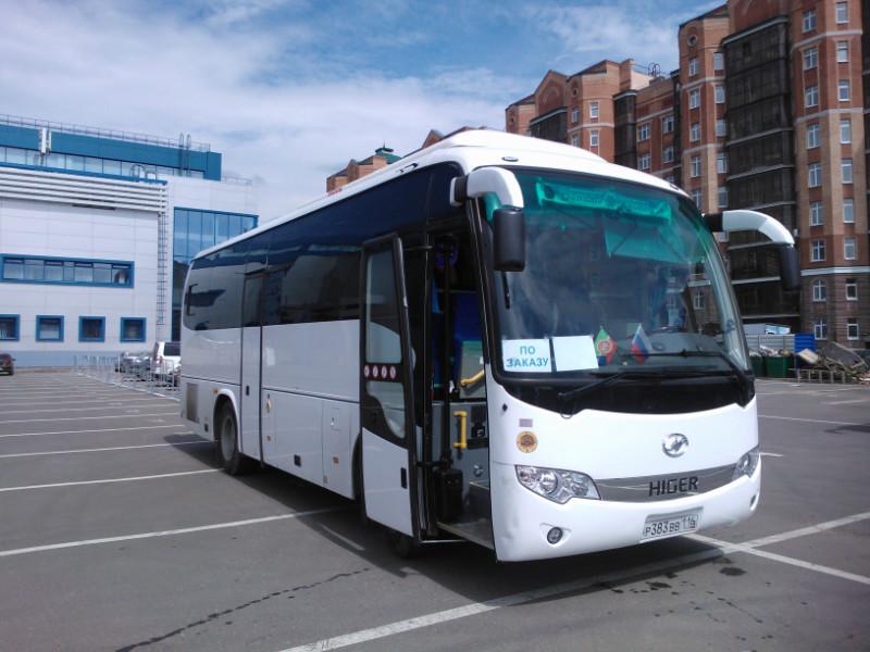 аренда автобусов Higer в Казани